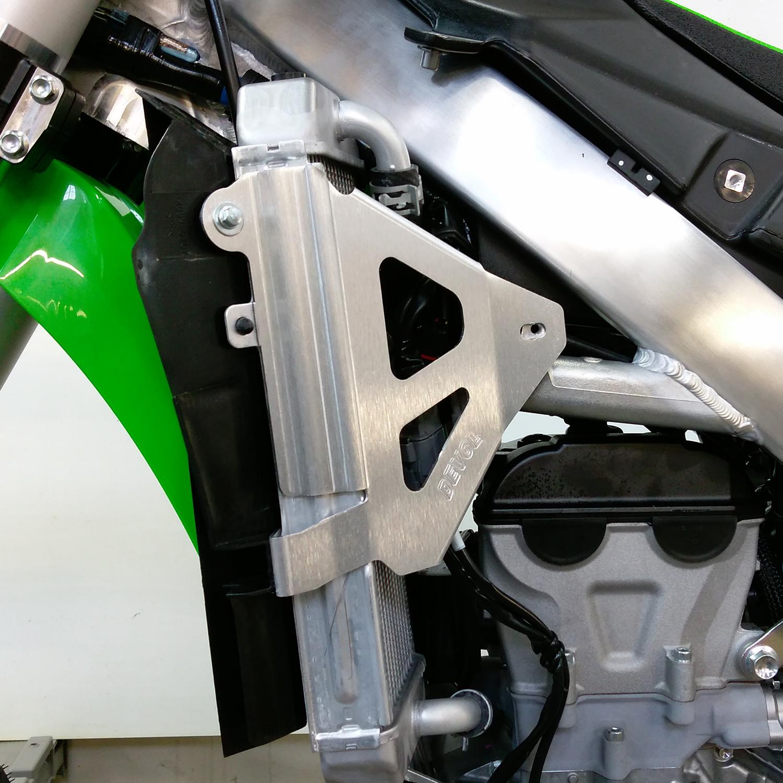 Devol Aluminum Radiator Race Braces for Kawasaki KX450F 2016-2018