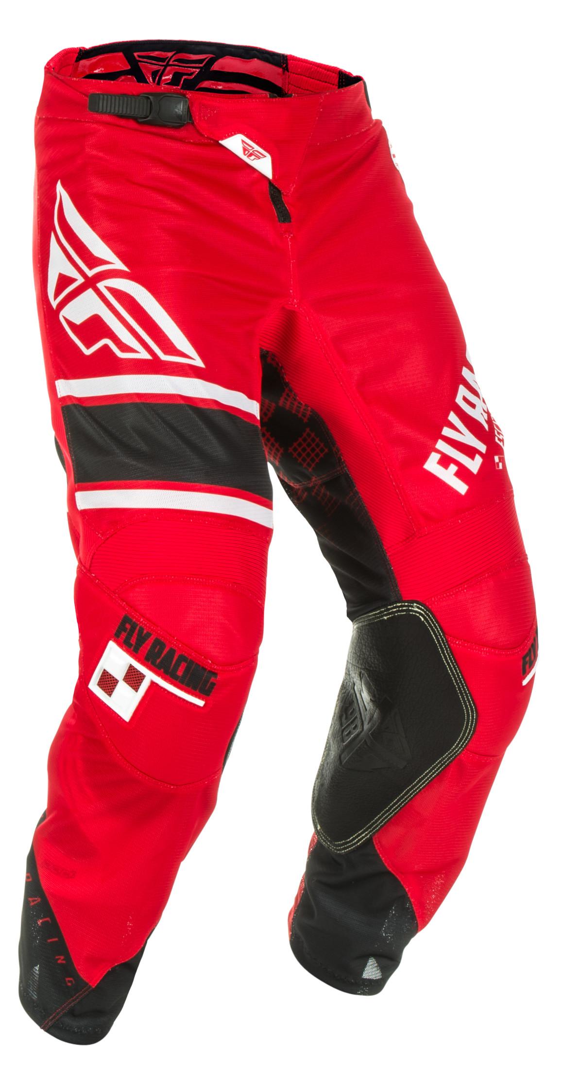 FLY RACING KINETIC PANTS BLACK WHITE MX MOTORCROSS DIRT BIKE OFF ROAD ATV UTV
