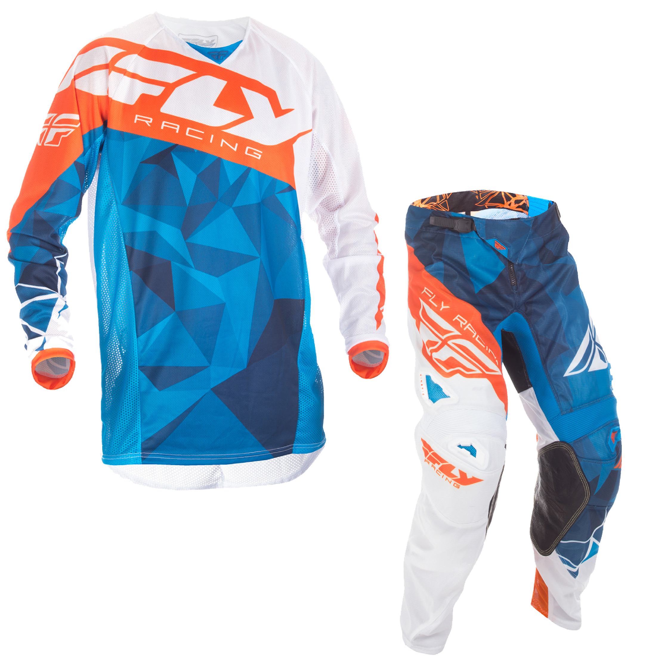 Blue//White//Orange Fly Racing MX Motocross 2017.5 Kinetic CRUX Mesh Jersey