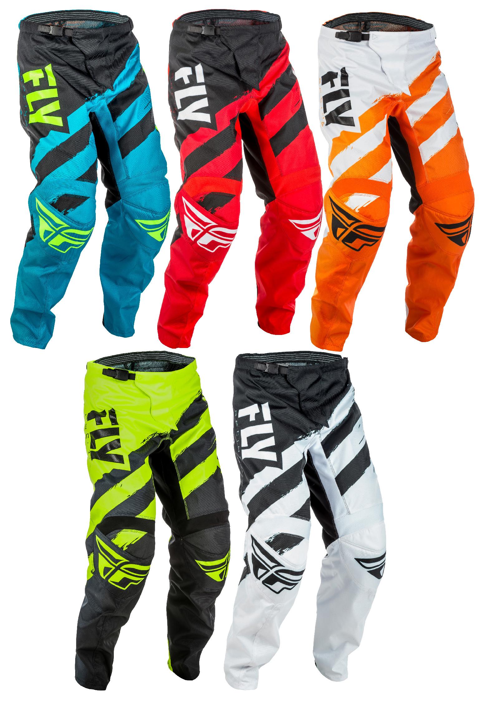 Fly Racing Youth Blue//Black//Hi-Vis F-16 Dirt Bike Pants ATV UTV MX