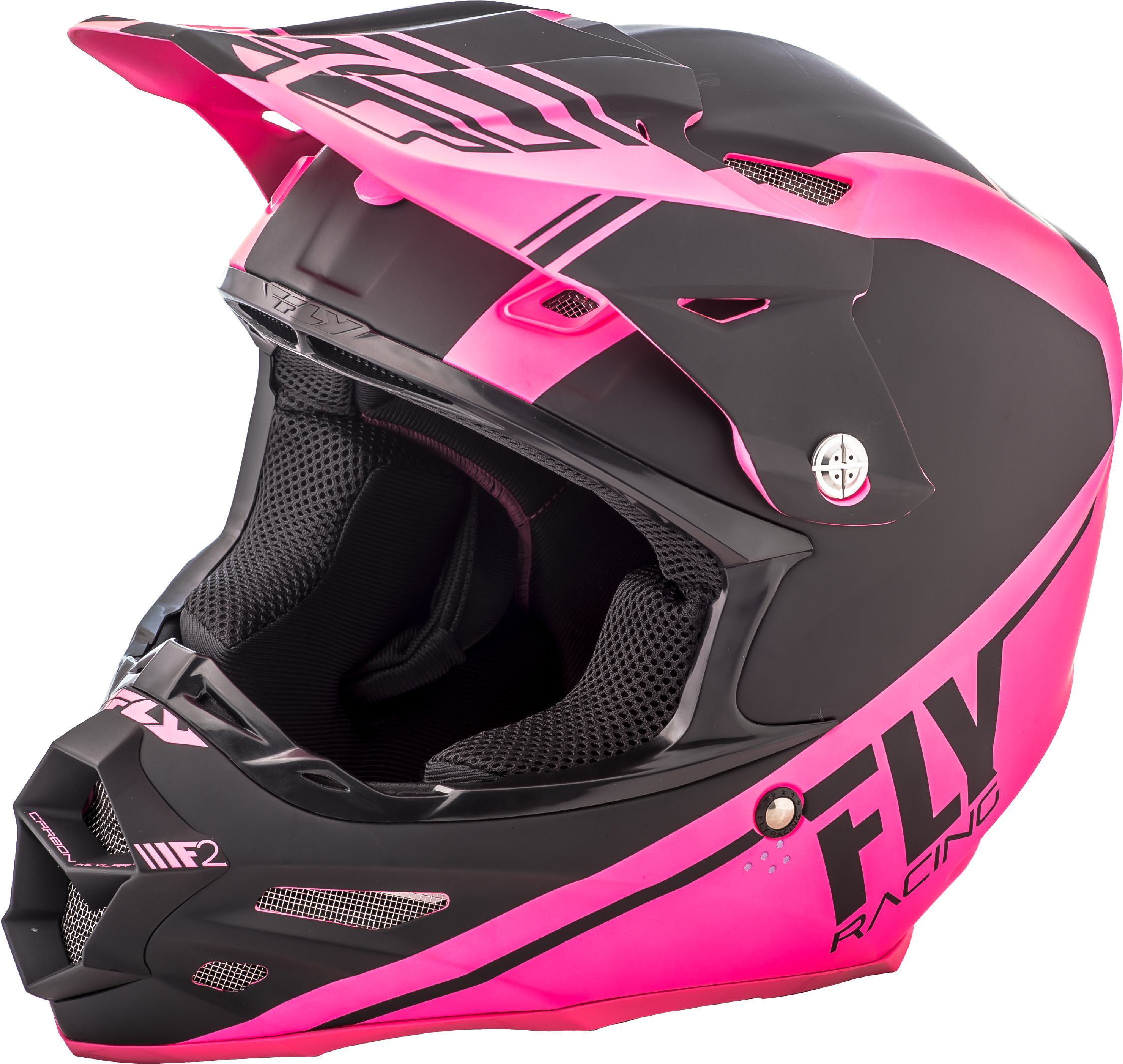 Fly Racing Motocross 2018 F2 CARBON Forge MIPS Helmet Matte Pink//Hi-Vis//Black