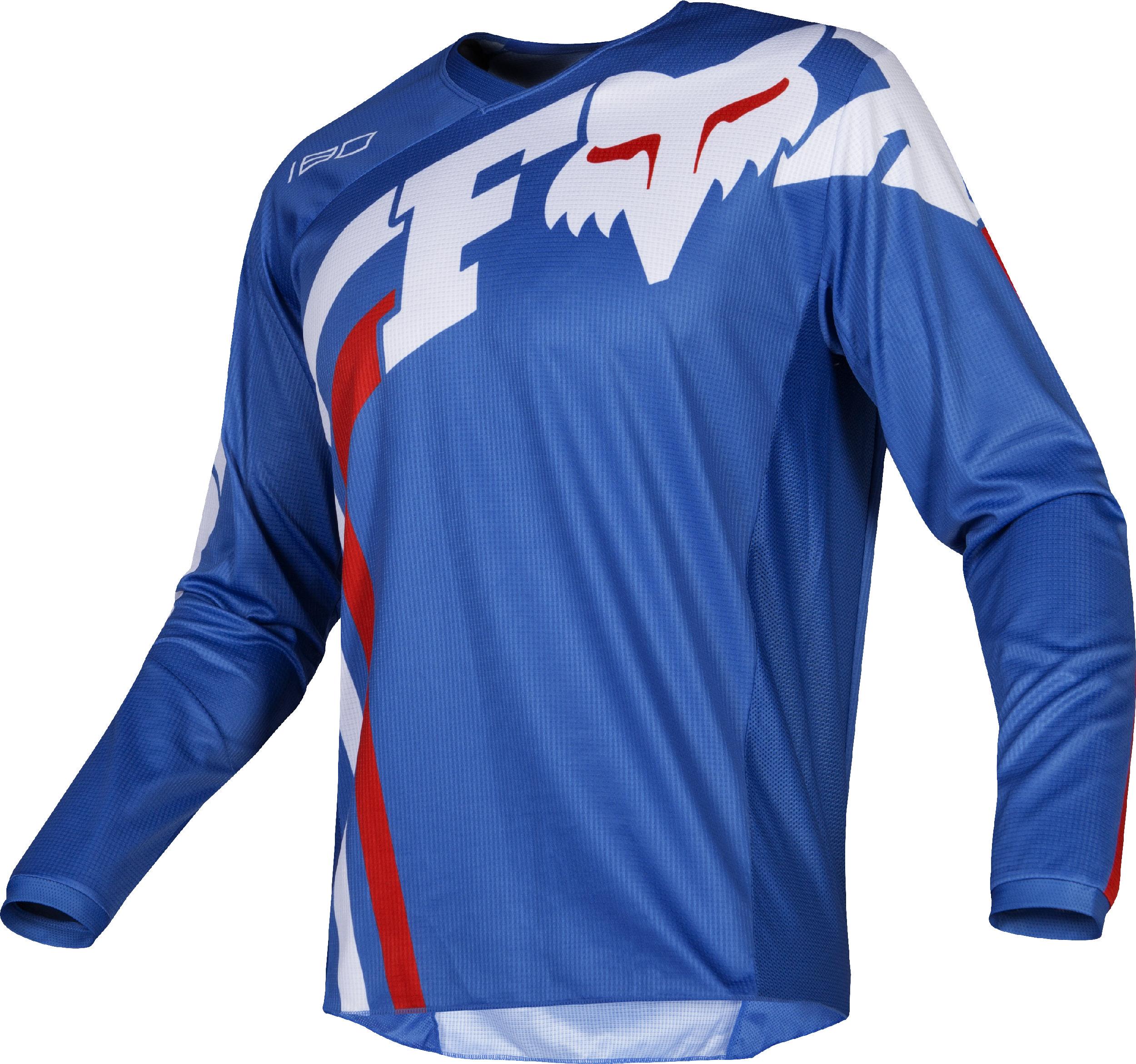 Fox Racing Mens Airline Navy Blue//White Dirt Bike Jersey Motocross ATV MX
