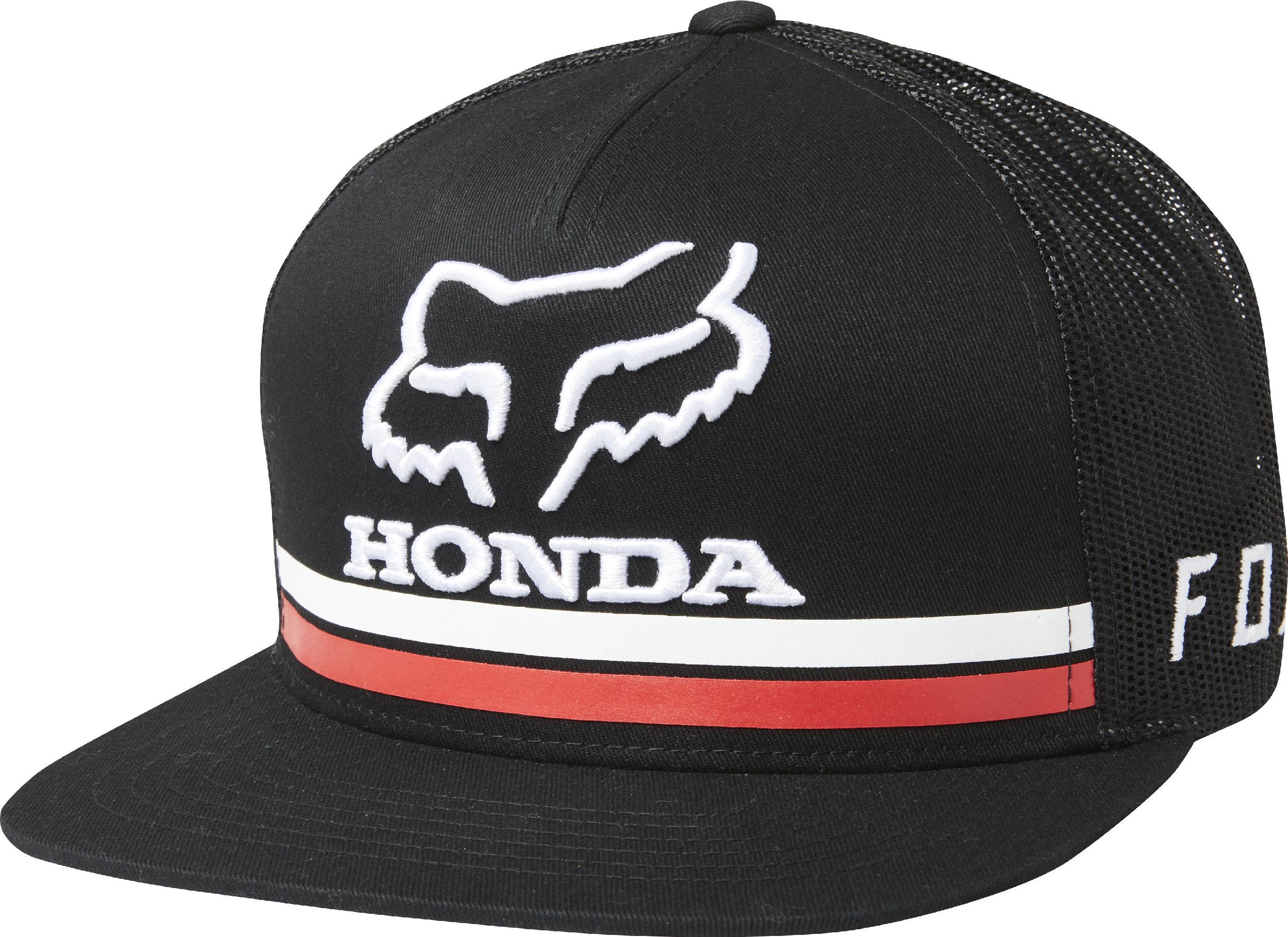 f3ca4ccf0ecd Fox Racing Mens Black Fox Honda Snapback Hat 191972153983   eBay