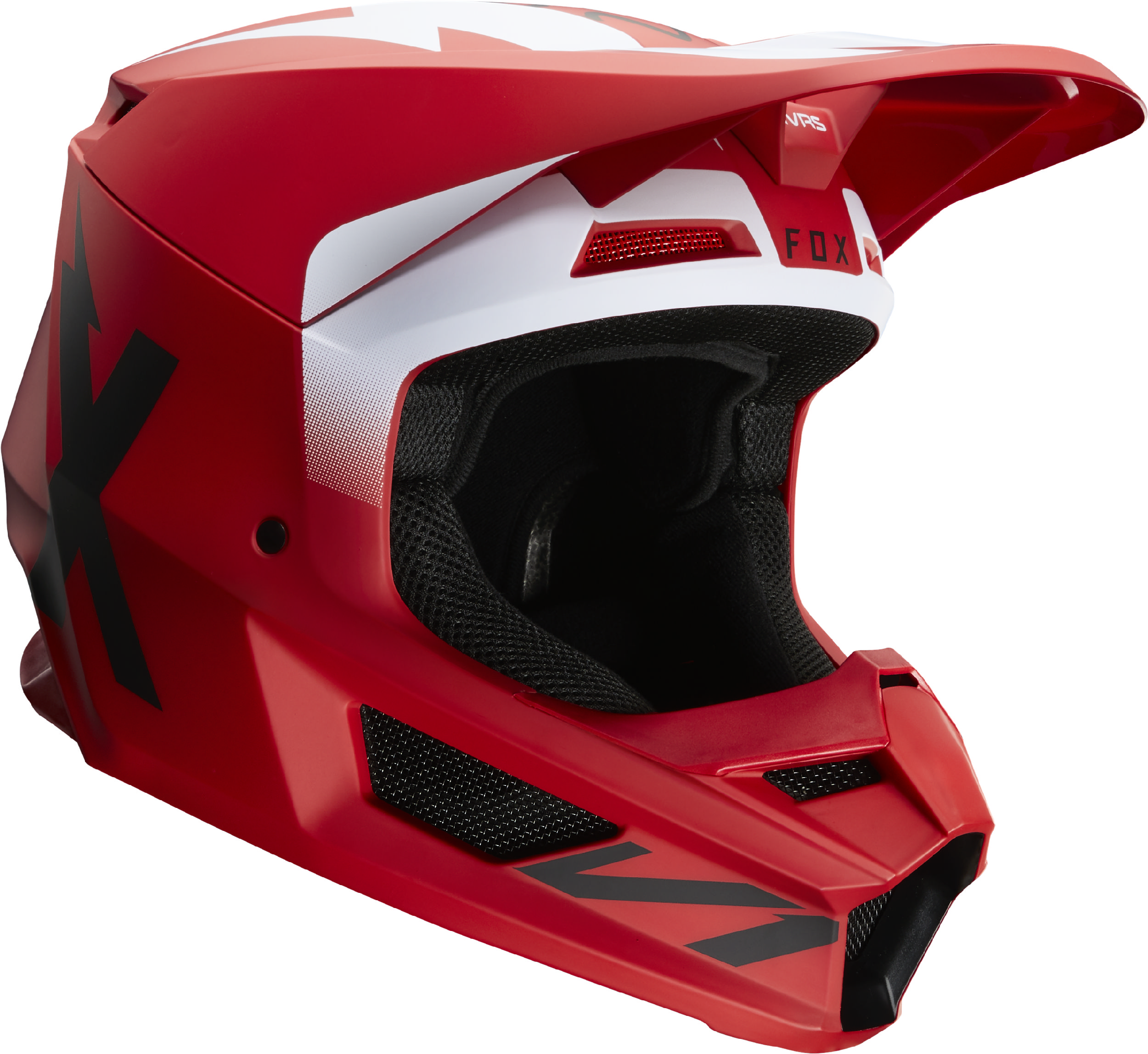 FOX RACING V1 MATTE BLACK ADULT MX ATV HELMETS