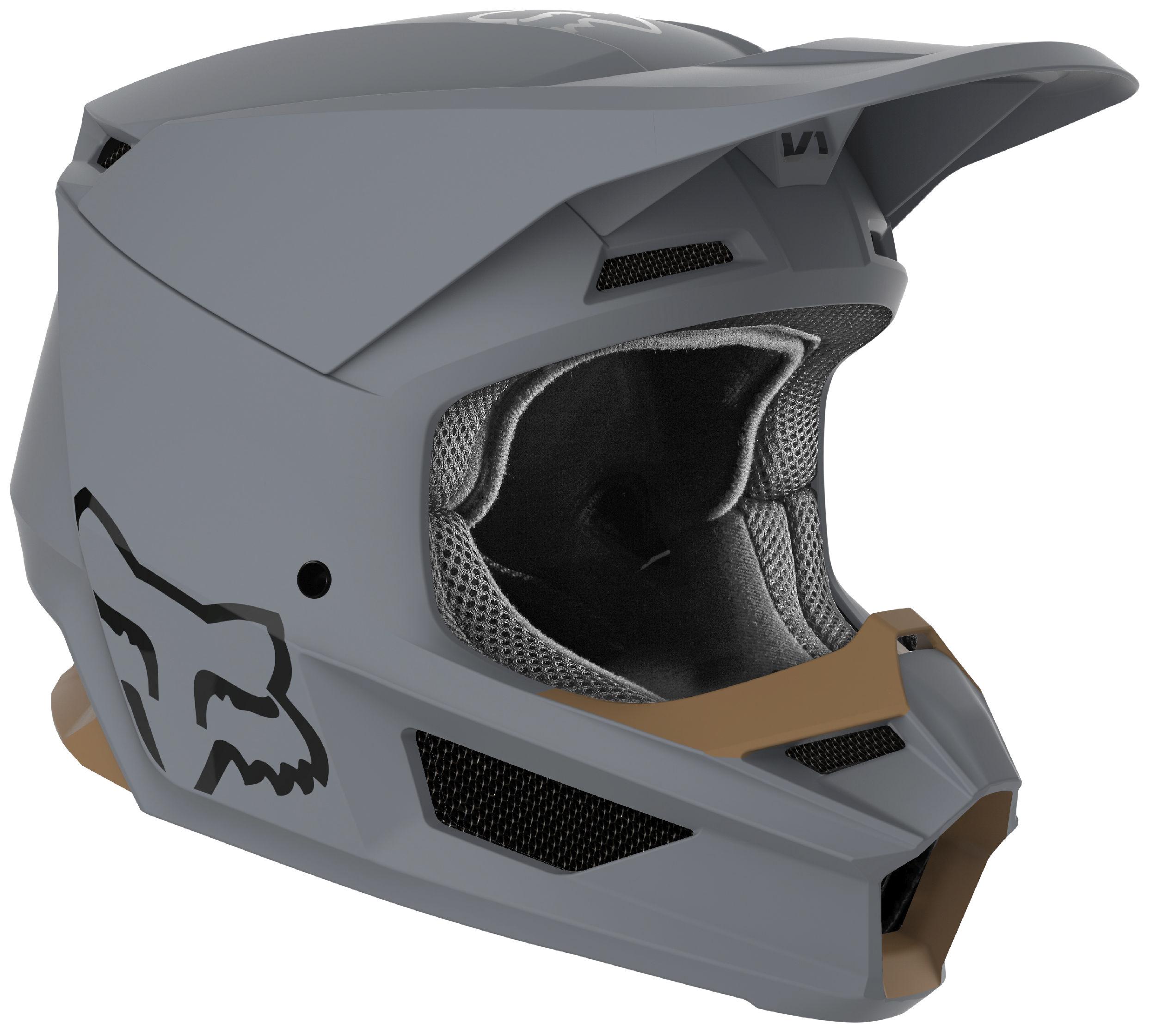 Fox Racing Adult V1 Matte White Dirt Bike Helmet Motocross ATV UTV