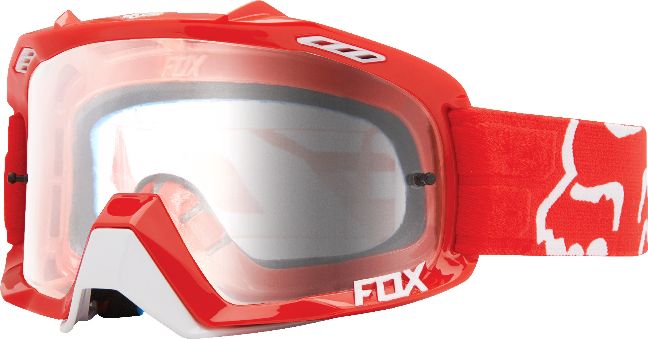 1fcd2dd0845 Fox Racing Adult Red Air Defence Race Dirt Bike Goggles MX ATV Off-Road