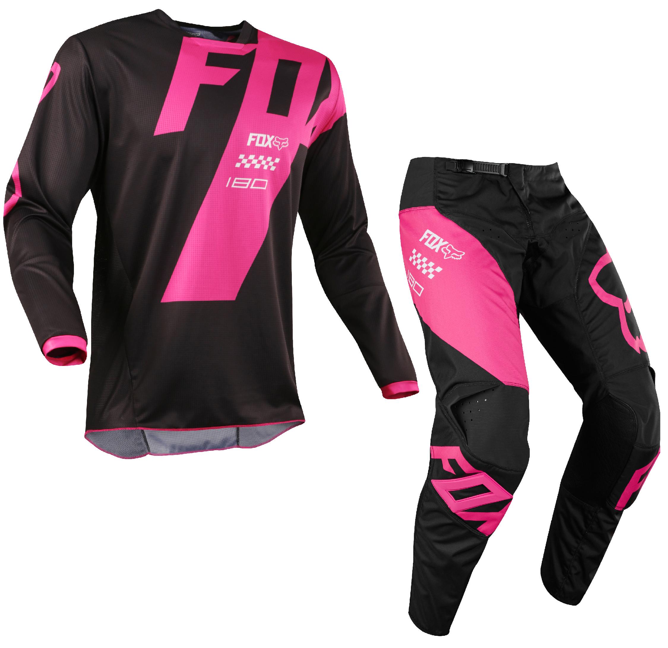 Fox Racing 2018 180 Mastar Jersey//Pants Adult Mens Combo Offroad MX Gear Motocross Riding Gear Black
