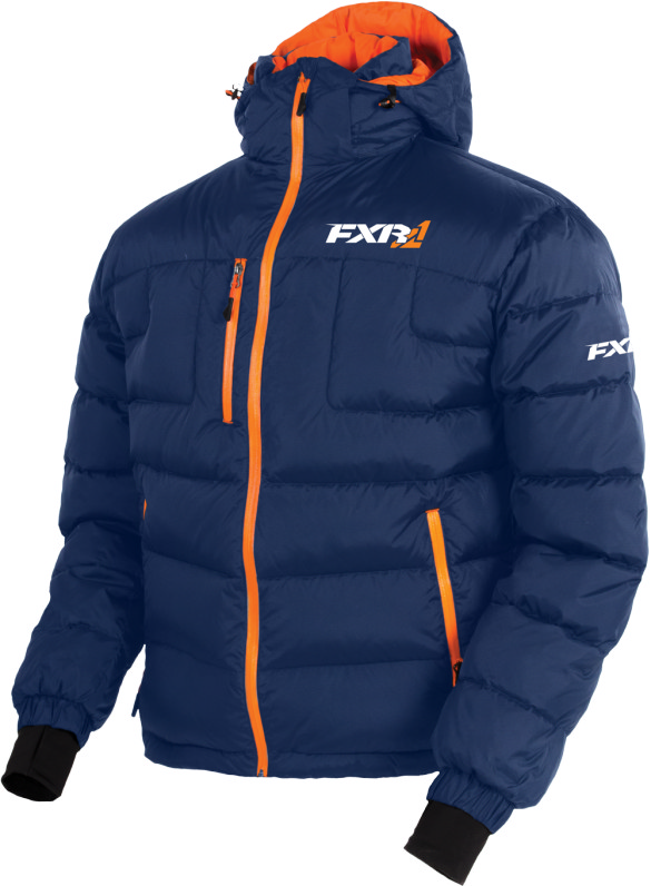 FXR Mens Black//Lime Elevation Down Insulated Snowmobile Jacket Snocross