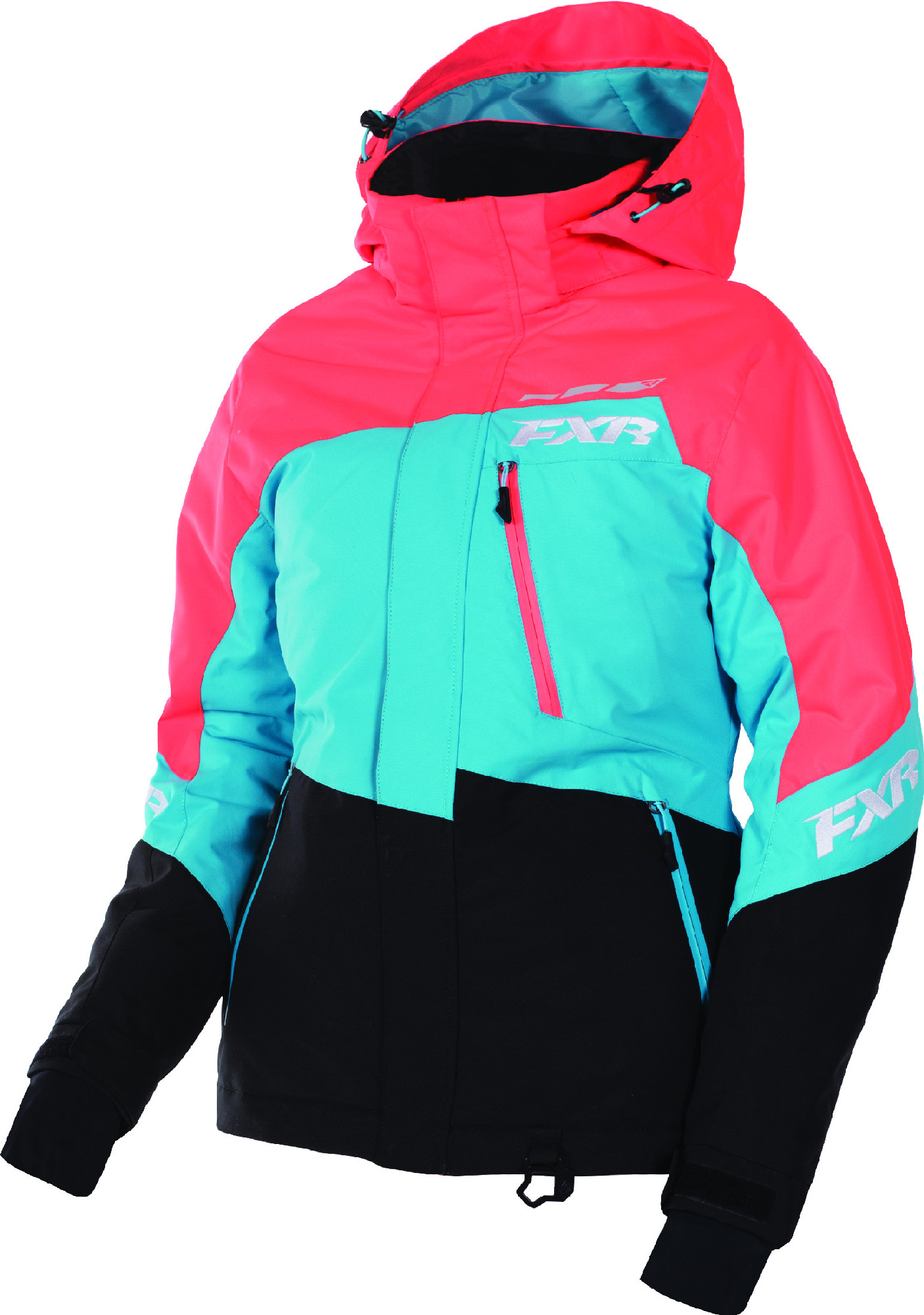 Womens Snowmobile Suits >> Details About Fxr Womens Electric Tangerine Aqua Black Fresh Snowmobile Jacket Insulated