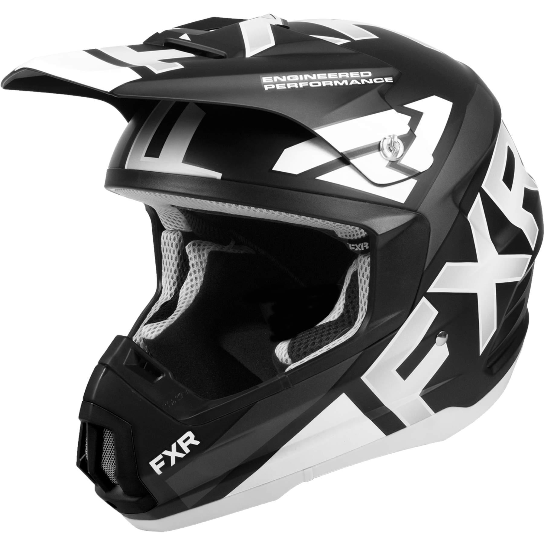 FXR Adult Black//Lime//Charcoal Grey Torque Core Snowmobile Helmet Snocross DOT