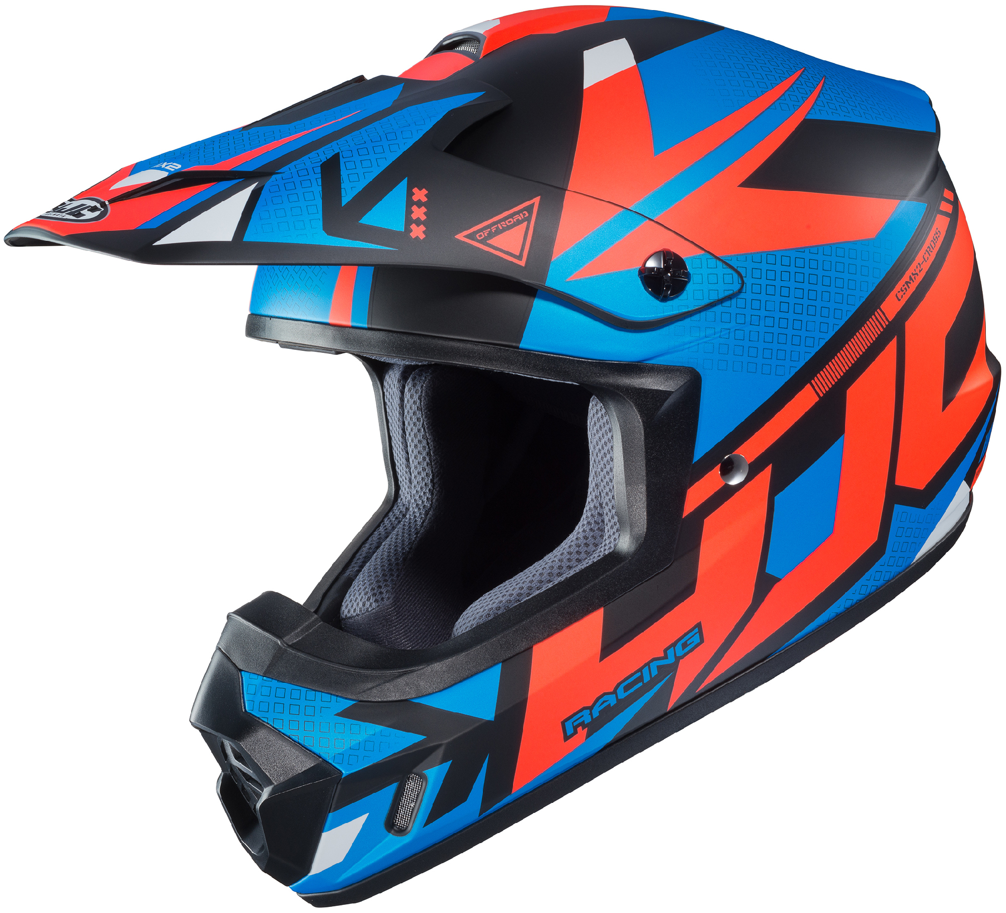 HJC White//Blue//Red CS-MX II Dakota Dirt Bike Helmet DOT MX ATV Motocross