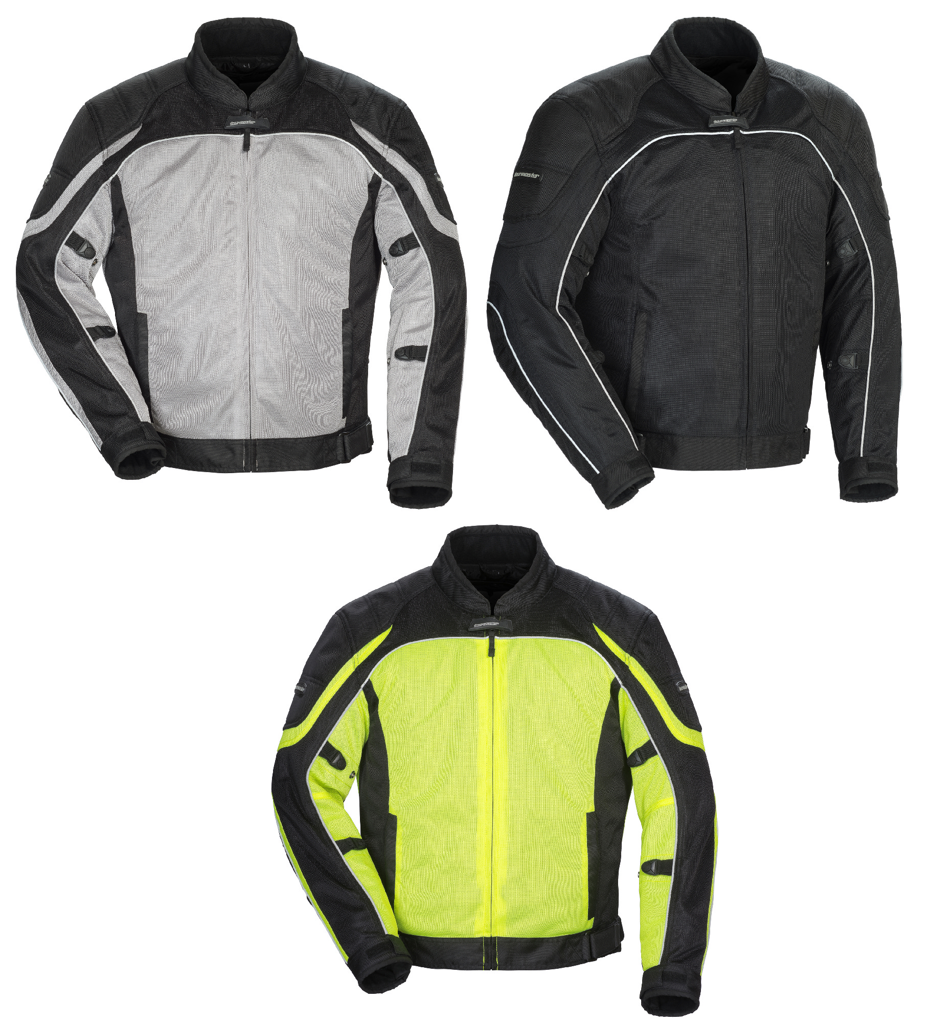 More Size and Color Options Tourmaster Intake Air 5.0 Mens Summer Mesh Jacket Black//5X-Large