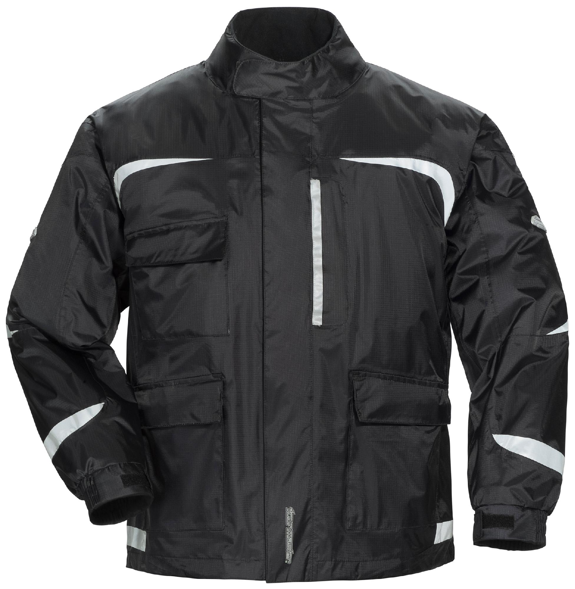 Tourmaster Black Mens XL Sentinel 2.0 Motorcycle Rain Jacket Extra Large