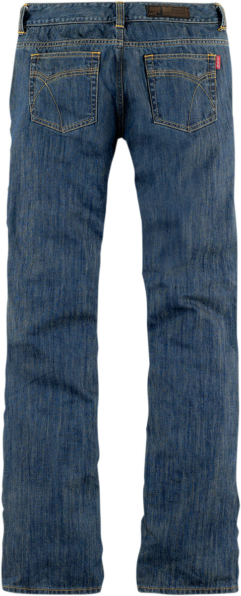 Icon Womens Blue Denim Hella Motorcycle Pants