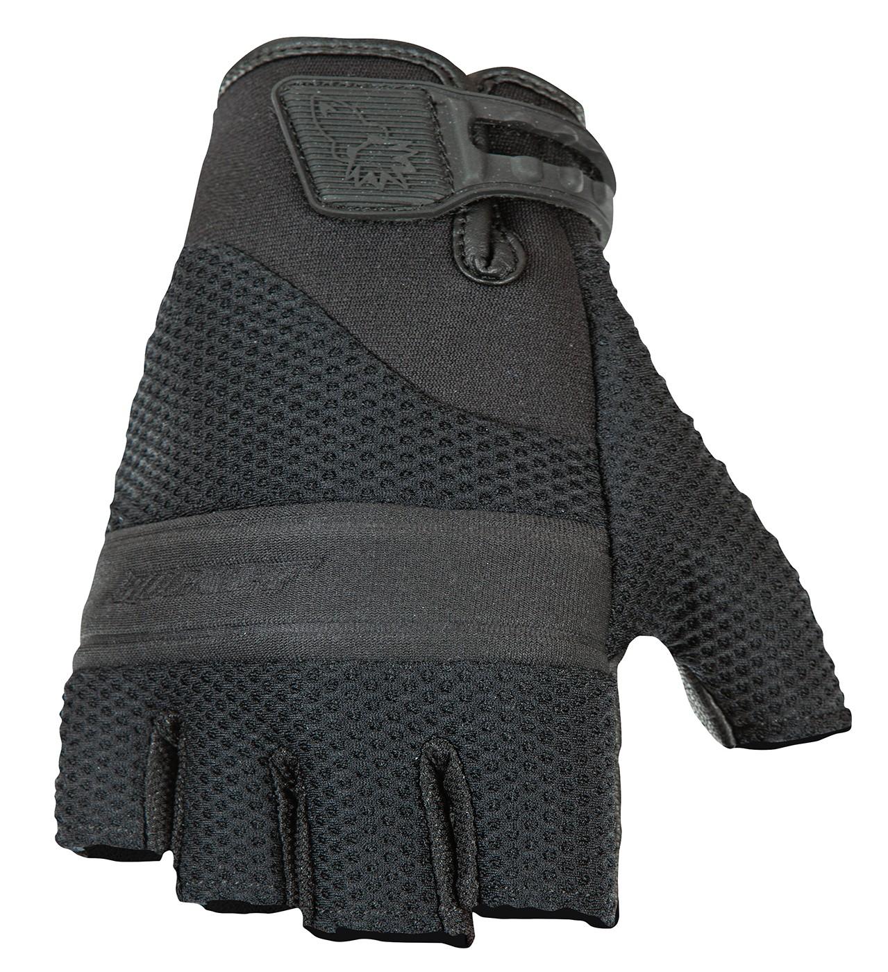 Joe Rocket Medium Black Vento Fingerless Motorcycle Gloves Med Md M