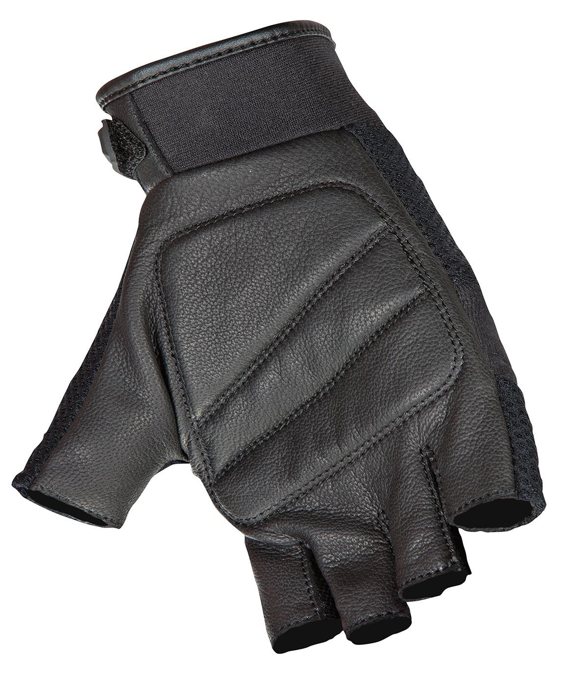 thumbnail 2 - Joe Rocket Medium Black Vento Fingerless Motorcycle Gloves Med Md M