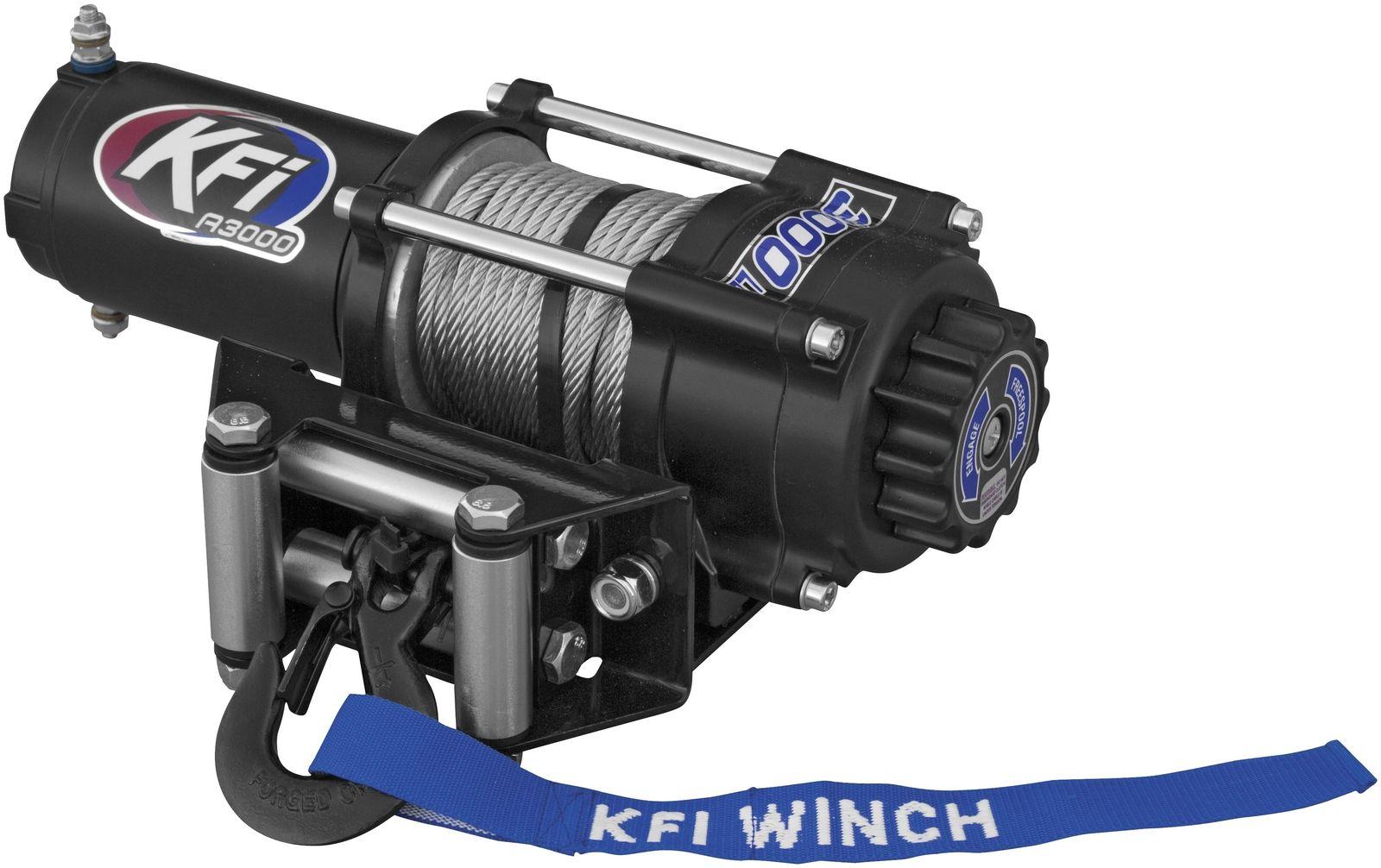 Kfi 2500 Lb Winch Set And Mounting Kit fits Polaris Trail Boss 350L  4x4 90-93