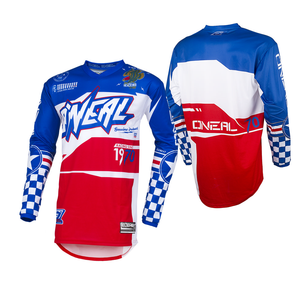 O/'Neal Element Afterburner Jersey MX Motocross Dirt Bike Off-Road ATV MTB Mens