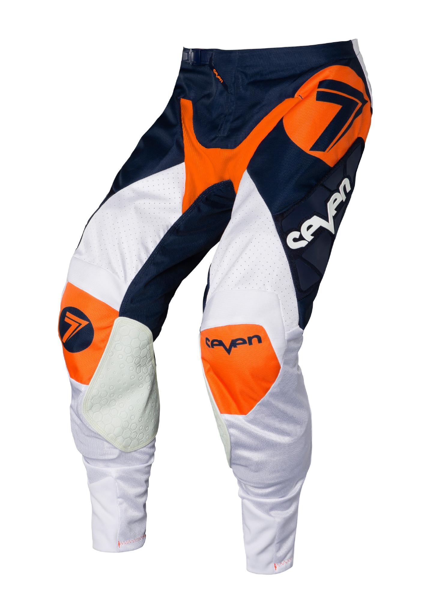 Seven Orange Navy Blue White Mens Rival Zone Dirt Bike Pants ATV BMX ... dc21ac86b