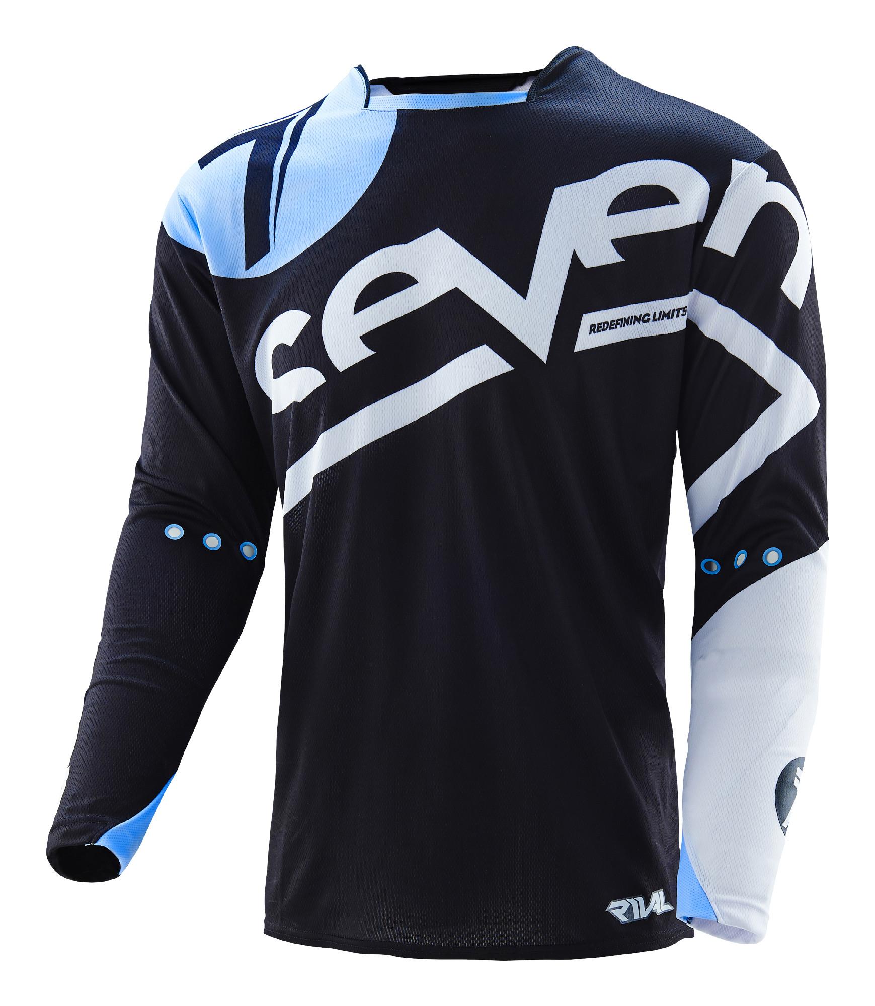 Seven Black Blue Mens Rival Zone Dirt Bike Jersey ATV BMX MTB  6dace163f
