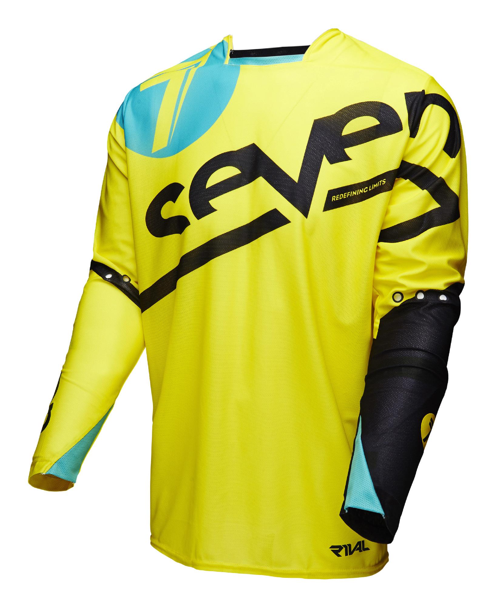 Seven Yellow Black Blue Mens   Youth Rival Zone Dirt Bike Jersey ATV BMX MTB 69e53b912
