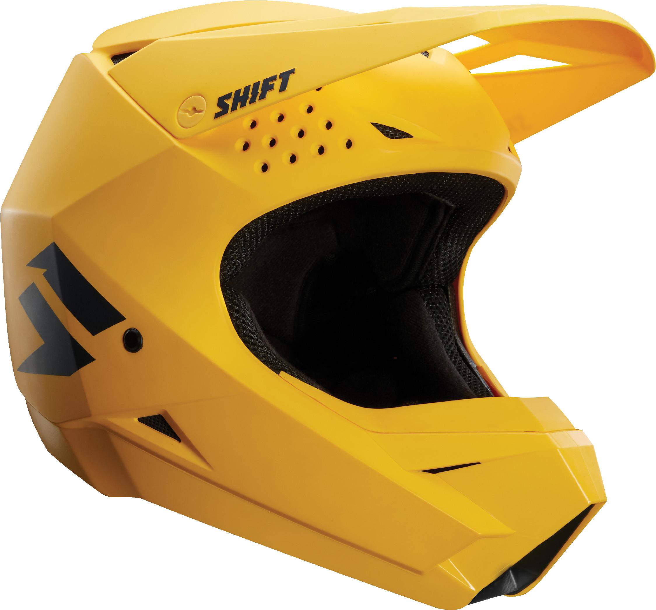 NEW SHIFT RACING ATV MX MOTOCROSS OFF-ROAD WHITE LABEL WHIT3 HELMET ORANGE//BLK