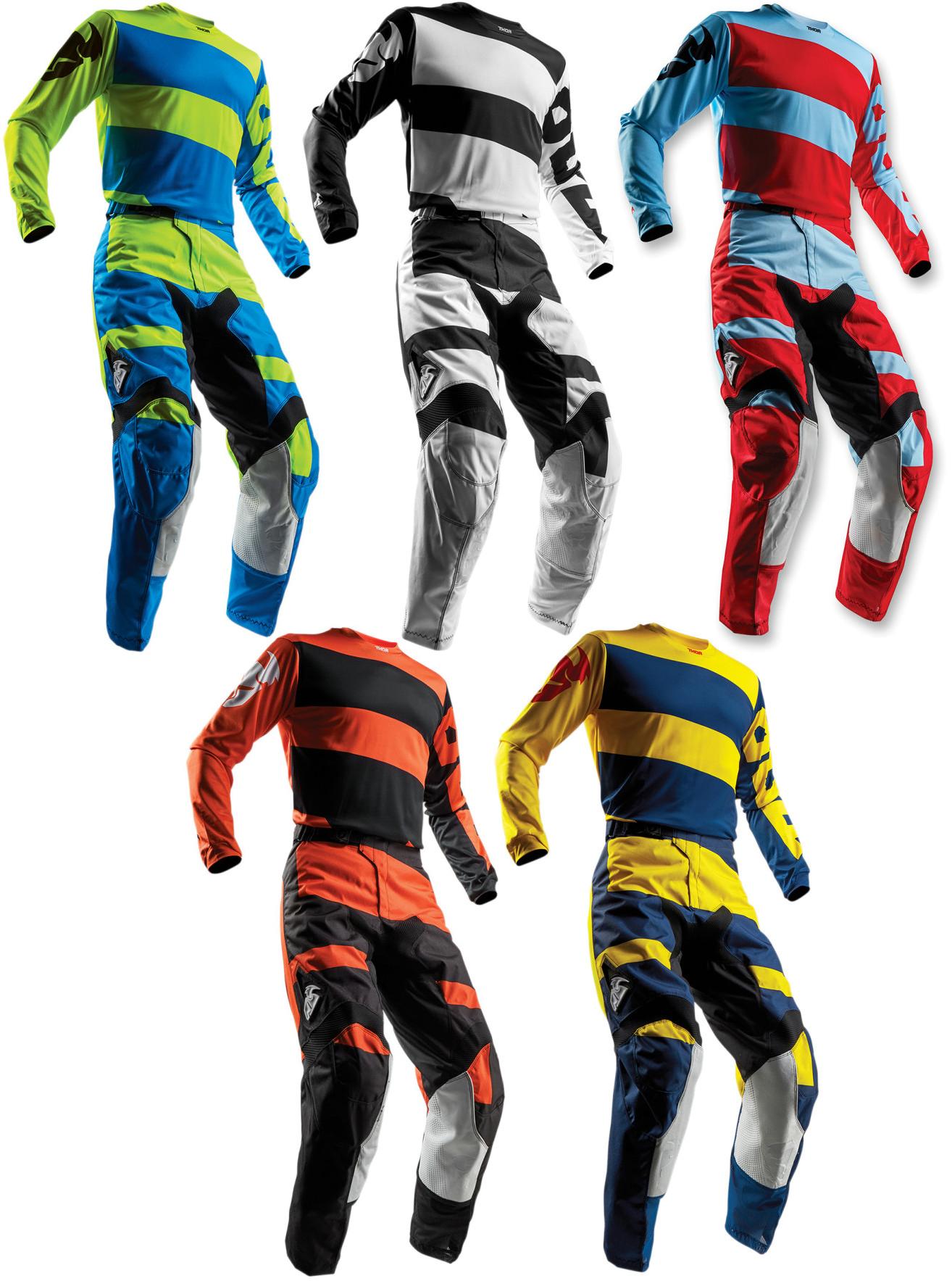 Thor Mens /& Youth Pulse Level Dirt Bike Jersey /& Pants Kit MX ATV Offroad 2018